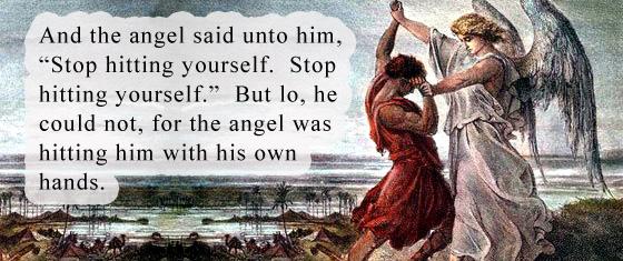 stop hitting yourself angel
